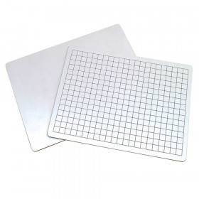 "2-Sided Math Whiteboards, 1/2"" Grid/Plain"