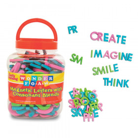 Magnetic Letters with Consonant Blends, Assorted Colors & Sizes, 104 Pieces