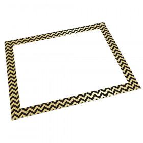 Foil Poster Board Gold/Black Chevrn 25 Sheets