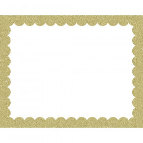 Poster Board Gold Glitter Scalloped 25 Sheets