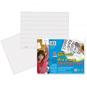 Gowrite Dry Erase Learning Boards Non Adhesive 8-1/4X11 30Pk