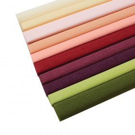 Extra Fine Crepe Paper, 10 Assorted Colors, 10.7 sq. ft