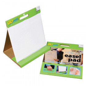 "Table Top Easel Pad, Self-Adhesive, White, 16"" x 15"", 25 Sheets"