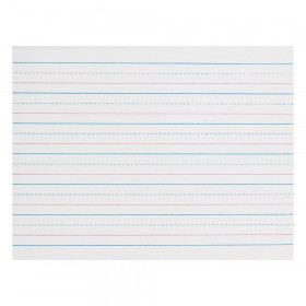 """Sulphite Handwriting Paper, Dotted Midline, Grade K, 3/4"""" x 3/8"""" x 3/8"""" Ruled Long, 10-1/2"""" x 8"""", 500 Sheets"""