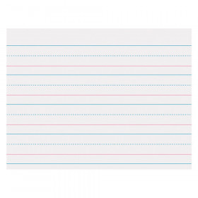 """Sulphite Handwriting Paper, Dotted Midline, Grades Pre-K & K, 1-1/8"""" x 9/16"""" x 9/16"""" Ruled Long, 10-1/2"""" x 8"""", 500 Sheets"""