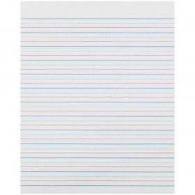 "Sulphite Handwriting Paper, Dotted Midline, Grade 2, 1/2"" x 1/4"" x 1/4"" Ruled Short, 8"" x 10-1/2"", 500 Sheets"