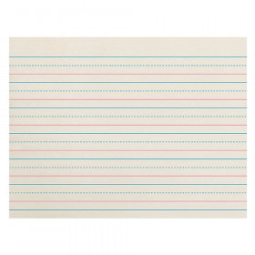 "Newsprint Handwriting Paper, Dotted Midline, Grade K, 3/4"" x 3/8"" x 3/8"" Ruled Long, 10-1/2"" x 8"", 500 Sheets"