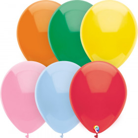 """9"""" Balloons, Assorted Solids, 144 Count"""