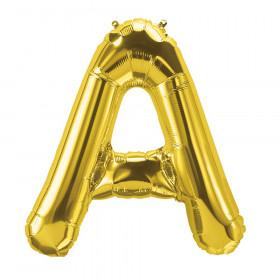 "16"" Foil Balloon, Gold Letter A"