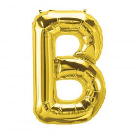 """16"""" Foil Balloon, Gold Letter B"""