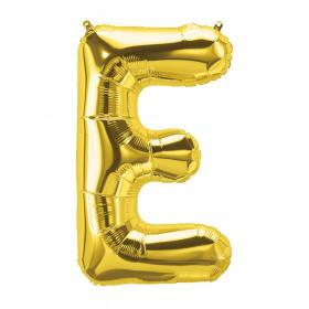 """16"""" Foil Balloon, Gold Letter E"""