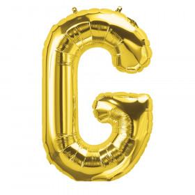 """16"""" Foil Balloon, Gold Letter G"""