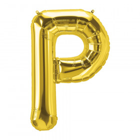 "16"" Foil Balloon, Gold Letter P"