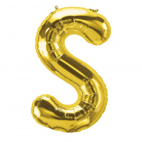 16In Foil Balloon Gold Letter S