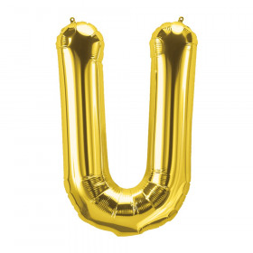 "16"" Foil Balloon, Gold Letter U"