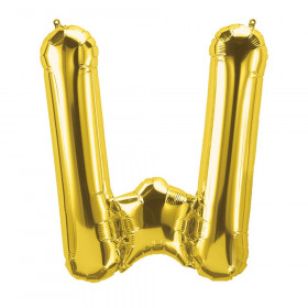 "16"" Foil Balloon, Gold Letter W"