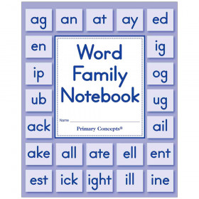 Word Family Notebook Set Of 20