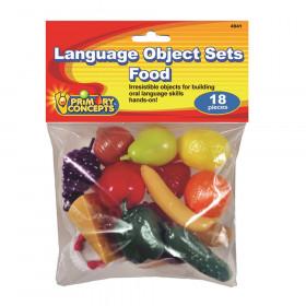 Language Object Sets Food, 18 Pieces