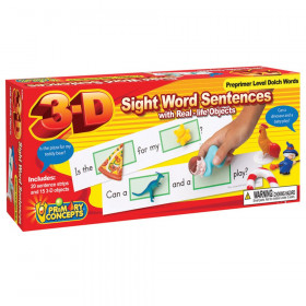 3-D Sight Word Sentences, Preprimer Level Dolch Words