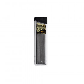 Pentel HB Super Hi-Polymer Leads, 0.5mm, Black, 30 leads