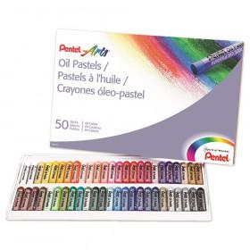 Pentel Oil Pastels, 50 count