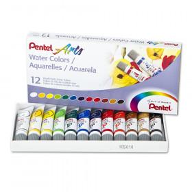 Pentel Arts Water Colors, 12-Color Set