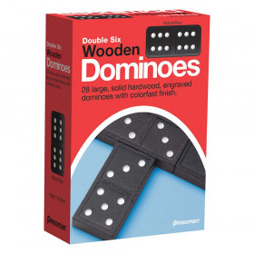 Double Six Wooden Dominoes Game
