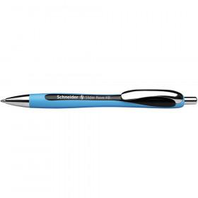 Rave Retractable Ballpoint Pen, ViscoGlide Ink, 1.4 mm, Black