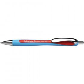 Rave Retractable Ballpoint Pen, ViscoGlide Ink, 1.4 mm, Red