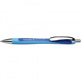 Rave Retractable Ballpoint Pen, ViscoGlide Ink, 1.4 mm, Blue