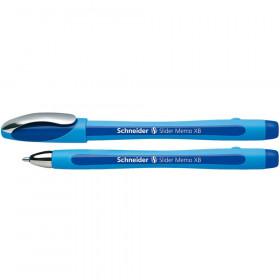 Slider Memo Ballpoint Pen, Viscoglide Ink, 1.4 mm, Blue