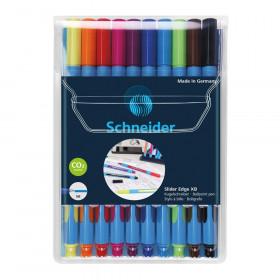 Slider Edge XB Ballpoint Pen, Viscoglide Ink, 1.4 mm, 10-Color Assortment in Wallet