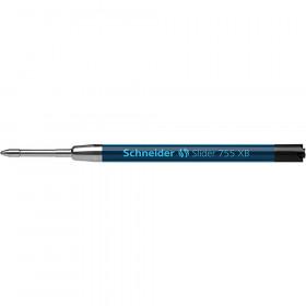 Slider 755 XB Ballpoint Pen Refill, Viscoglide Ink, Black
