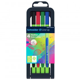Line-Up Fineliner Pens with Case, 4 Colors