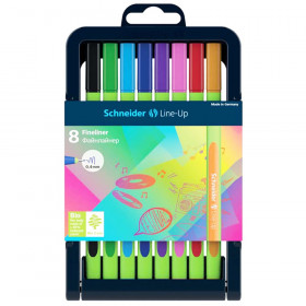 Line-Up Fineliner Pens with Case, 8 Colors