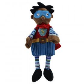 Story Telling Puppet, Superhero (Dark Skin)