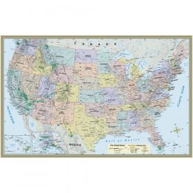 "U.S. Map-Laminated Poster, 50"" x 32"""