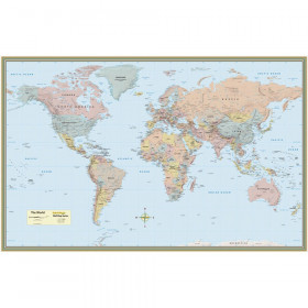 "World Map, Laminated Poster, 50"" x 32"""
