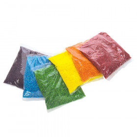 Roylco Sensory Rice, Assorted, 6 Colors