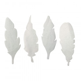Color Diffusing Paper Feathers, Pack of 80