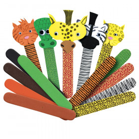 Printed Craft Sticks, Wild Animal Prints, 50/pkg