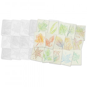 Roylco Leaf Rubbing Plates, 16/Pack