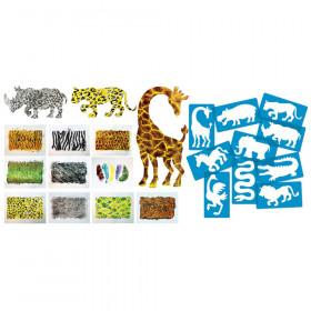 Animal Kingdom Stencils & Rubbing Plates Set