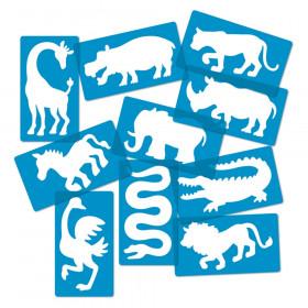 Safari Animal Stencils, Set of 10