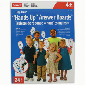 Hands Up Dry Erase Answer Boards, Pack of 24