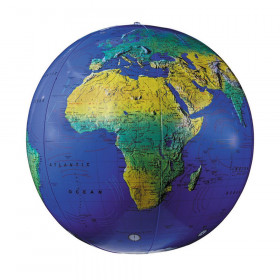 """Inflatable Topographical Globe, 12"""""""