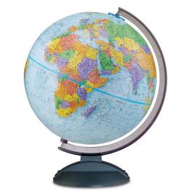 "Traveler Globe Blue Finish, 12"""