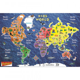 "Kids World Peel & Stick Wall Map, 42"" x 30"""