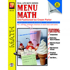 Menu Math: Old-Fashioned Ice Cream Parlor Book, Multiplication & Division