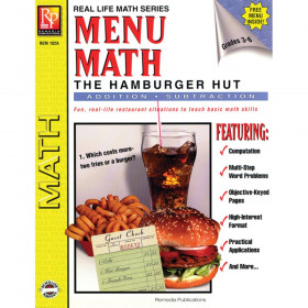 Menu Math, The Hamburger Hut Book, Addition & Subtraction